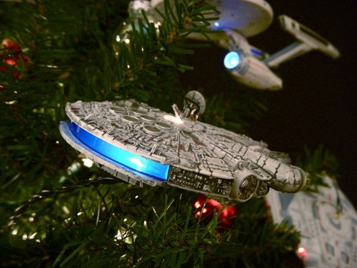 Theme Christmas trees are in vogue these days and a true Trekkie would love this decorating scheme.