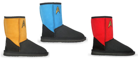 Keep those tootsies warm with these Star Trek style Sheepskin boots