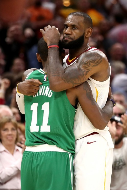 """Because of Kyrie recent comments that the Cavs did not want him in a Cleveland jersey anymore, LeBron responded with, """"That makes absolutely no sense,"""" And from the outside looking in I agree."""