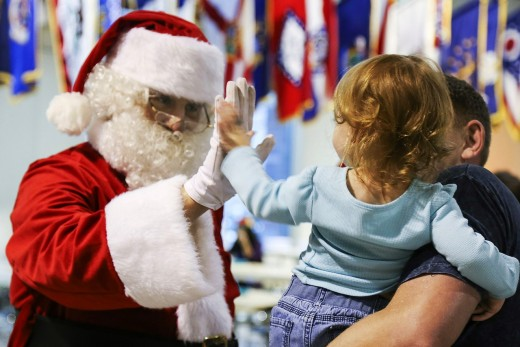 Store Santa will pass along the child's wishes to the real Santa Claus.