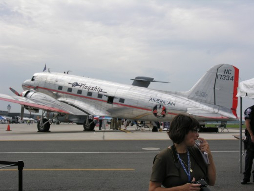 A DC-3 with American Airlines markings at Dulles IAP, September 2011.