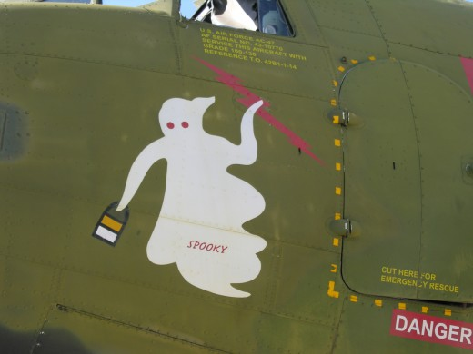 """Spooky"" nose art on a C-47, Andrews AFB, May 2012.  This nose art was used on AC-47s."