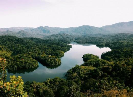 A beautiful view of region surrounding Melawati.