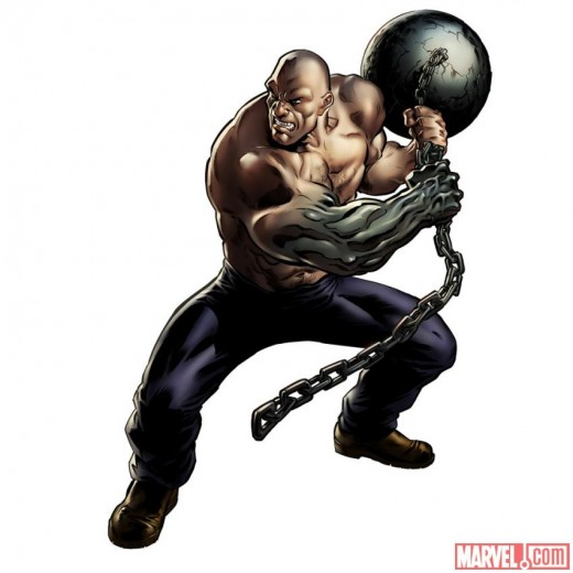 The Absorbing man's powers come from a magic potion Loki gave him