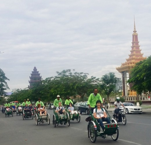 Green Bikes for Going Around Phnom Penh