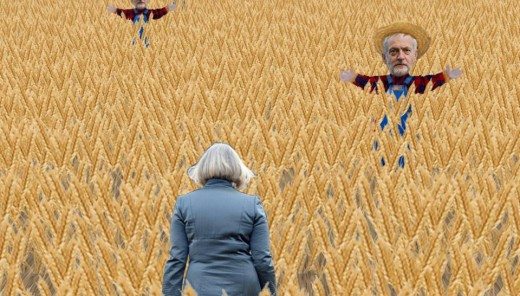 A new online game allows you to relive May's wheatfield adventures with the added challenge of trying to avoid the Corbyn scarecrows