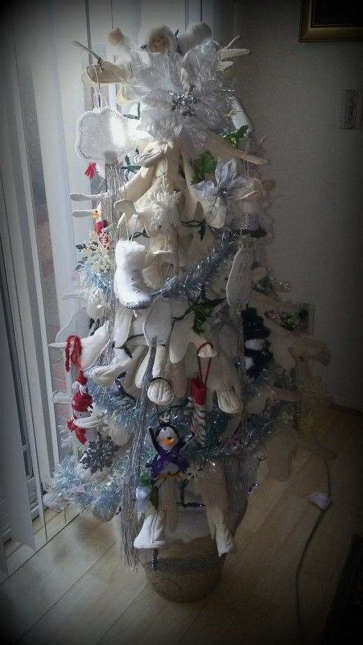 Author's season's tree decorated for winter.