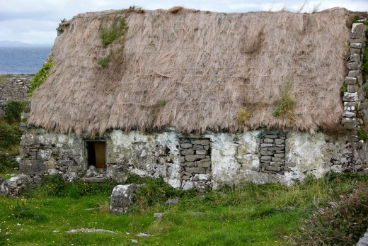 An abandoned cottage in Ireland is testimony to the millions who emigrated to the United States and other countries.