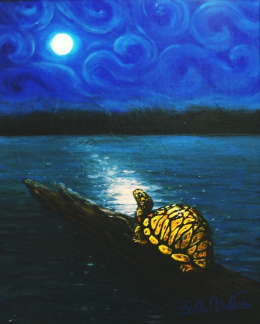 Seeking The Creator-This painting was created for Beth's Uncle Clifford, a Tuscarora Indian of the Turtle clan.  Beth says he always encouraged her to do great things in life.