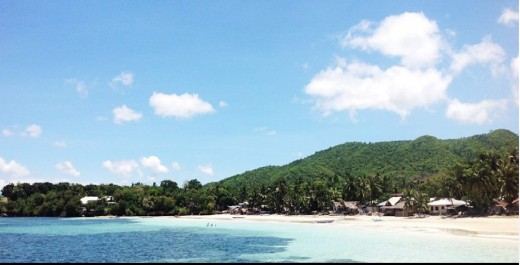 This is the view that greets you upon arrival in Siquijor Island