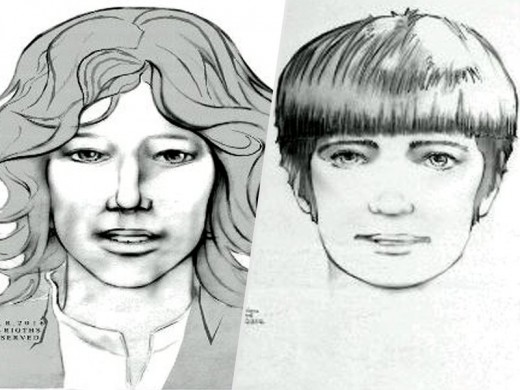 Composite sketches of two individuals Reet Jurvetson is believe to have been staying with in Hollywood, Calif.