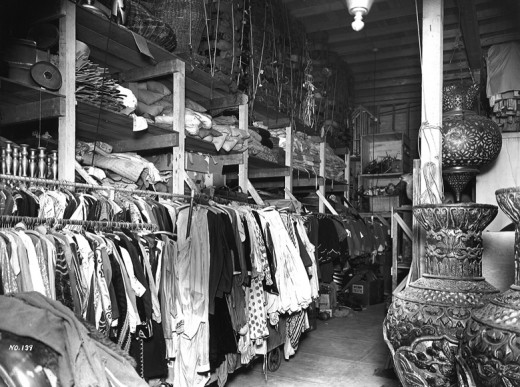 Western Costume Co., next door to the apartment building where Reet Jurvetson was staying in Hollywood, Calif.