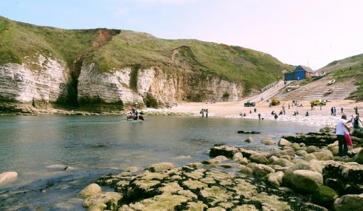 North Landing, Flamborough Head from seaward