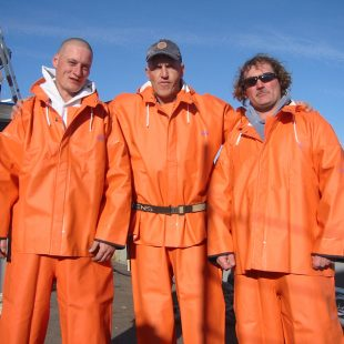 The happy commercial fishermen!