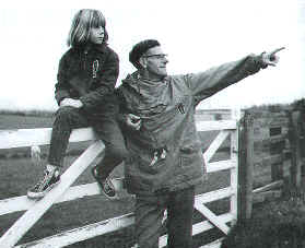 Bill Cowley, farmer an walk founder with daughter Heather (10) who was the youngest to walk the route