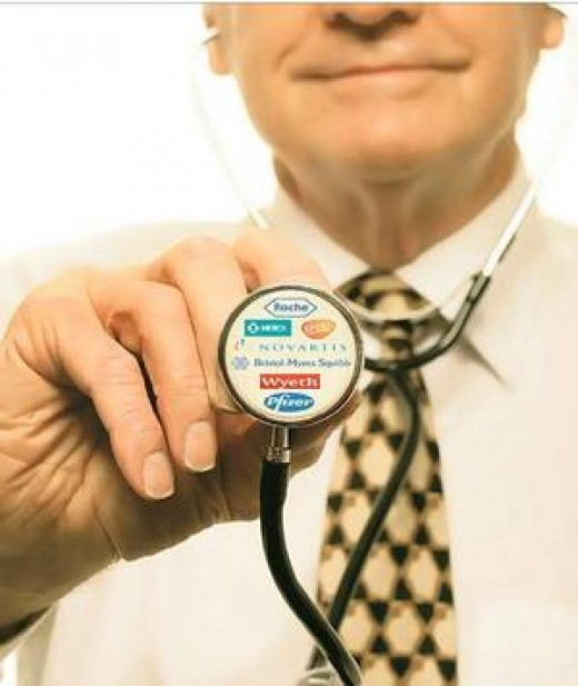Doctor (MD).  Sometimes associations with pharmaceutical companies lead to conflict of interest.  Image by Google Images