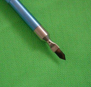 Diamond edged scalpel