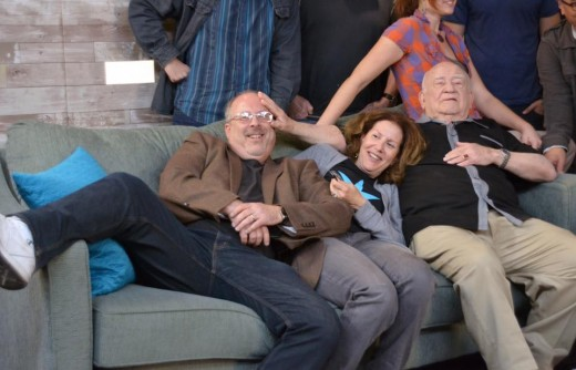 Having entirely too much fun with Lorie, and Ed Asner.
