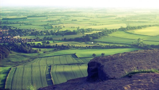 The view west from Roseberry Topping past Great Ayton