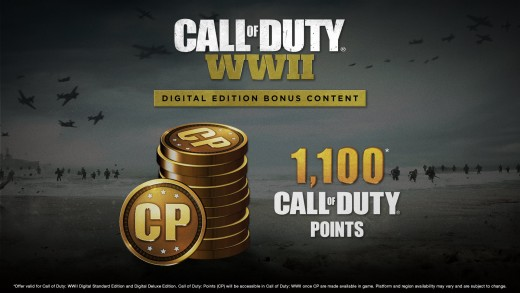 (Call of Duty: WW2, online, COD Points) Digital Deluxe Edition - Receive 1,100 Free COD Points - merely the enticer, as this is what gets the gambler addicted