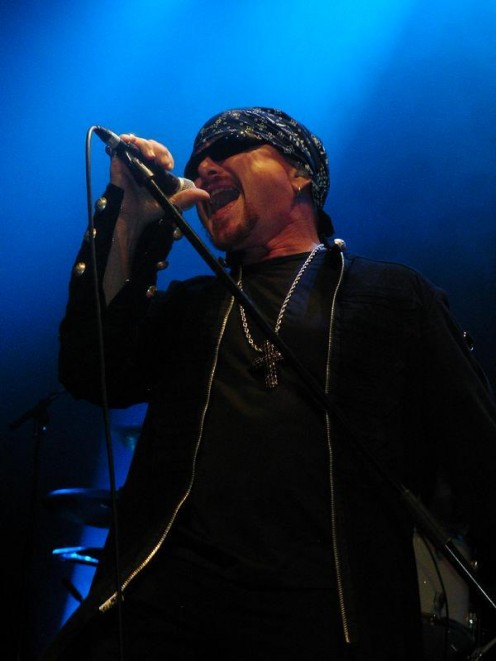 Vocalist Mark Boals is seen here on stage in this 2008 photo as he performs for the band Royal Hunt.
