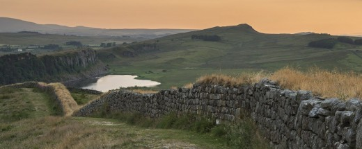 Hadrian's Wall skirts Craig Lough between Steel Rigg and Sycamore Gap north to the north