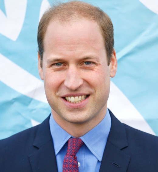 Prince William's tinny hair in 2015.