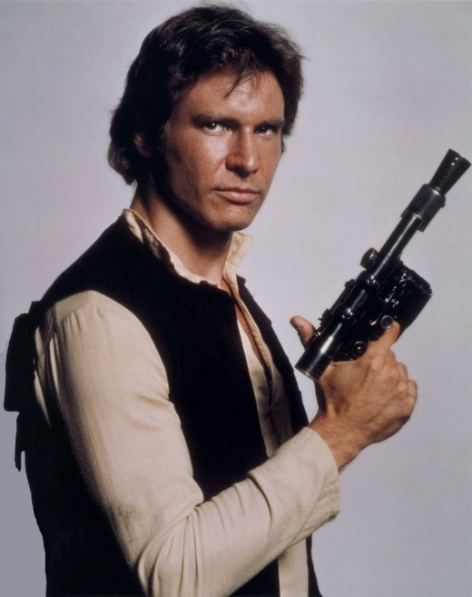 """Publicity still of Harrison Ford as Han Solo, from the original 1977 """"Star Wars."""""""