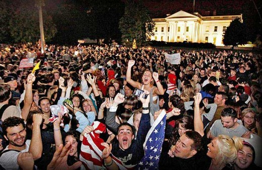 Americans Celebrating Osama Bin Laden's Death The Effects of September 11th