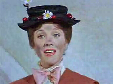 Mary Poppins, as played by Julie Andrews in the Classic Film