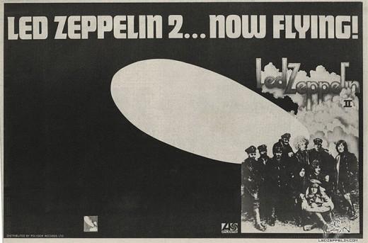 Led Zeppelin II insert promotion