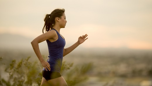 This woman knows the importance of exercising when she is jittery.