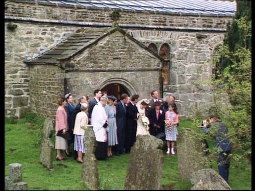 We seem to have caught a wedding party after the ceremony at St Michaels & All Angels, Hubberholme