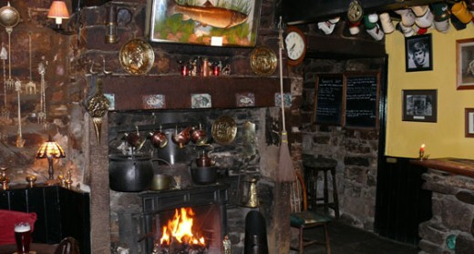 A warm ingle fire, a cosy bar - what else does a tired walker need?