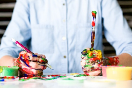Get creative with a new hobby even if you aren't that good at it.