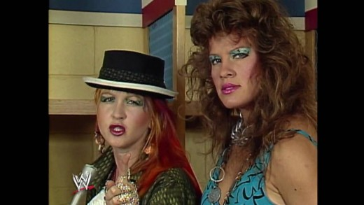 Cyndi Lauper (left) and Wendy Richter.