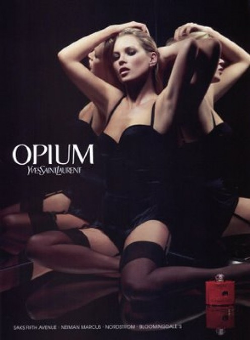 Vintage Kate Moss Campaign for YSL Opium