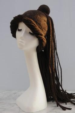 How to Make a Wet Felted Hippy Boho Dreadlock Festival Hat