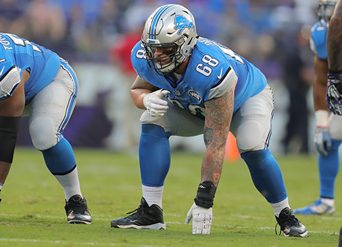Offensive Tackle Taylor Decker missed the first nine games of 2017 with a shoulder injury