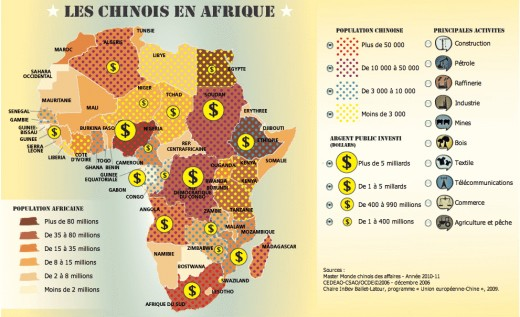 Chinese investment and populations have been increasing across all of Africa
