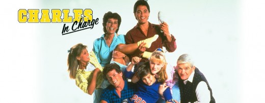 "Nicole Eggert, far left, with Scott Baio and the cast of ""Charles in Charge"""