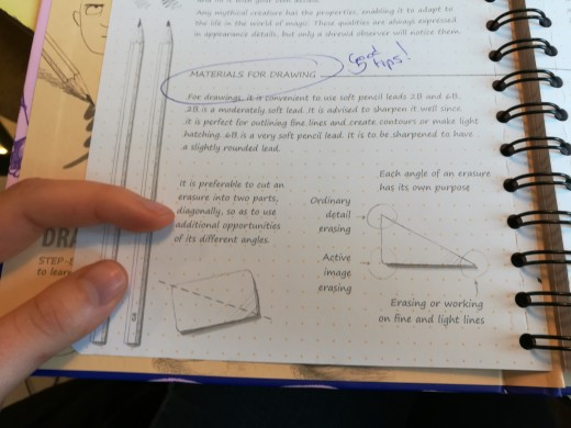 Here's an example of the drawing technique tips in the book.