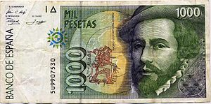 Hernan Cortes was celebrated on Spanish currency before the Euro was adopted.
