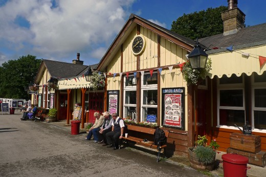 Bolton Abbey Station, E&BAR, a section of the Lancashire & Yorkshire Railway left unchanged and painted in Midland Railway livery