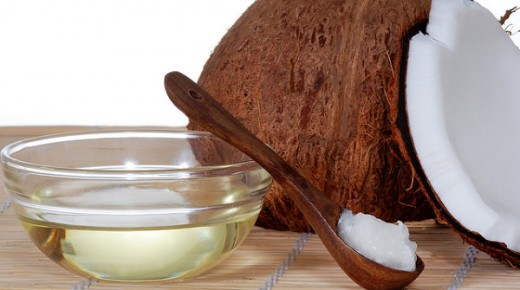 Cold-pressed coconut oil - Solid when it's cold and liquid when it's warm
