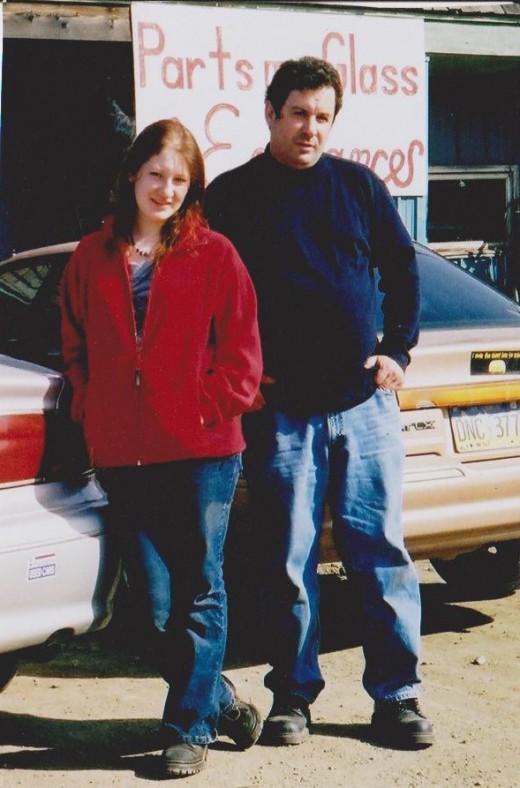 Rebecca and her Dad, Michael Oscar Jones