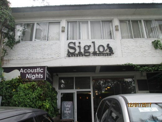Siglo, a tiny food resto with a frontage for three cars
