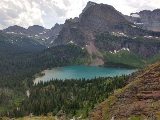 Listen to the sounds of nature for full relaxation. Photo taken by author on the Grinnell Trail at Glacier National Park.