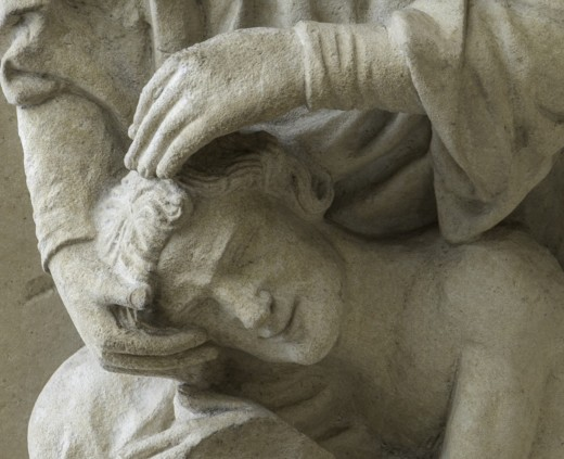 The Creation of Adam, Chartres Cathedral. Photo by Jill Geoffrion.