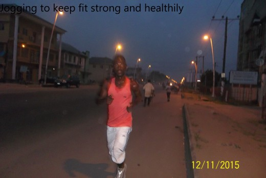 A man jogging to keep fit